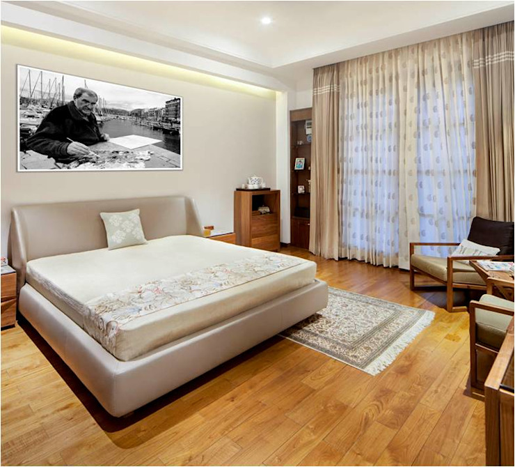 Aggarwal Residence Modern style bedroom by groupDCA Modern