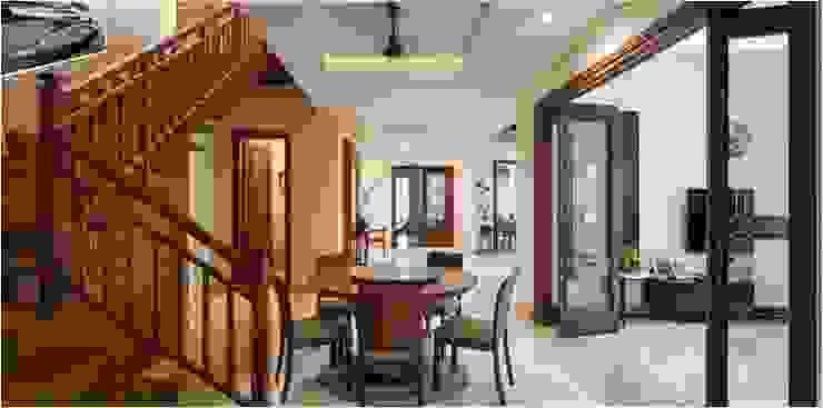 Aggarwal Residence groupDCA Modern corridor, hallway & stairs