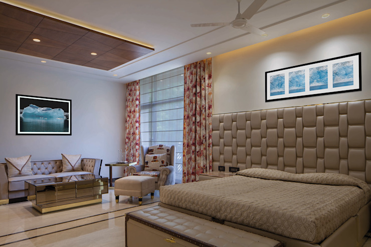 Gujral Residence Modern style bedroom by groupDCA Modern