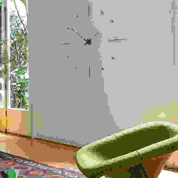 Nomon Mixto N - Walnut & Steel: modern  by Just For Clocks,Modern Metal