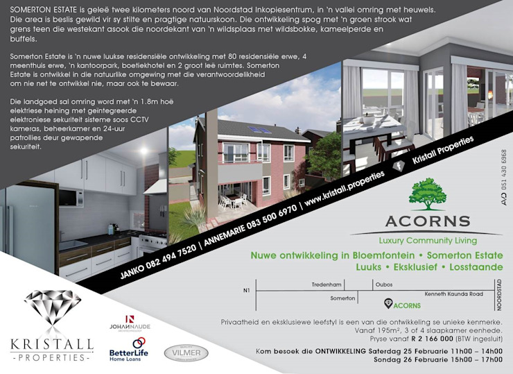 ACORNS TOWN HOUSES by JOHAN NAUDE ARCHITECHNOLOGY