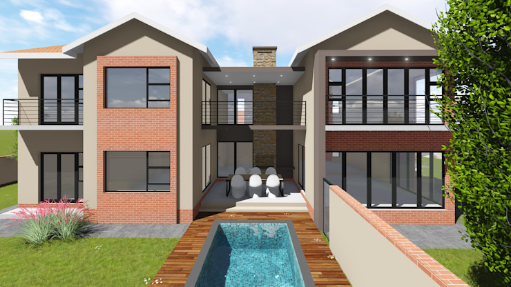 North elevation by JOHAN NAUDE ARCHITECHNOLOGY