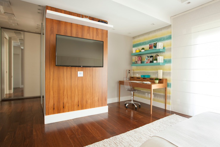 Bedroom by andrea carla dinelli arquitetura, Modern لکڑی Wood effect