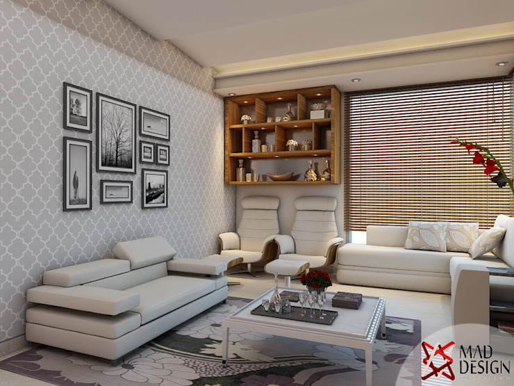 LIVING ROOM - VIEW 2 Modern living room by homify Modern