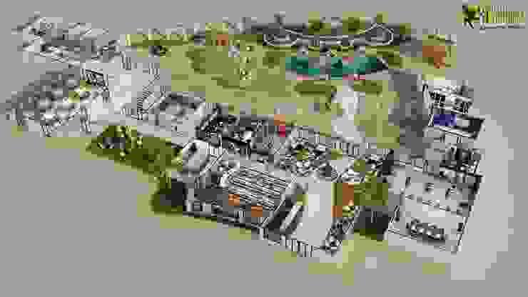 Hoteles de estilo  por Yantram Architectural Design Studio