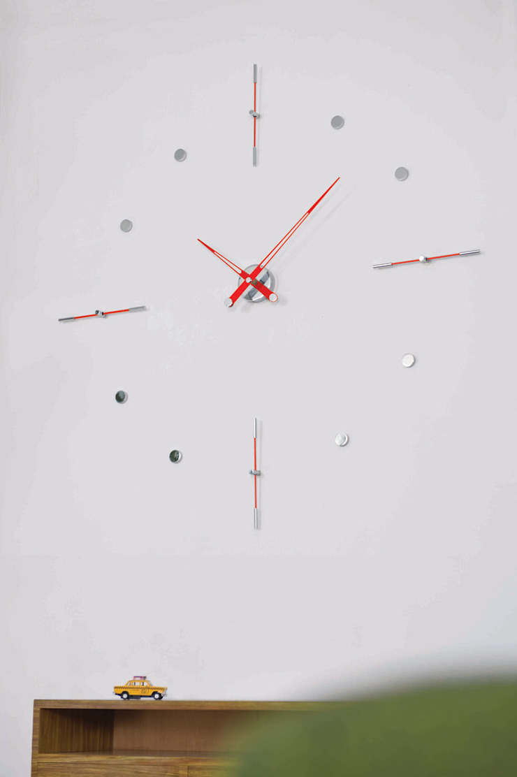 Nomon Mixto I - Red Lacquered Wall Clock: modern  by Just For Clocks,Modern Metal
