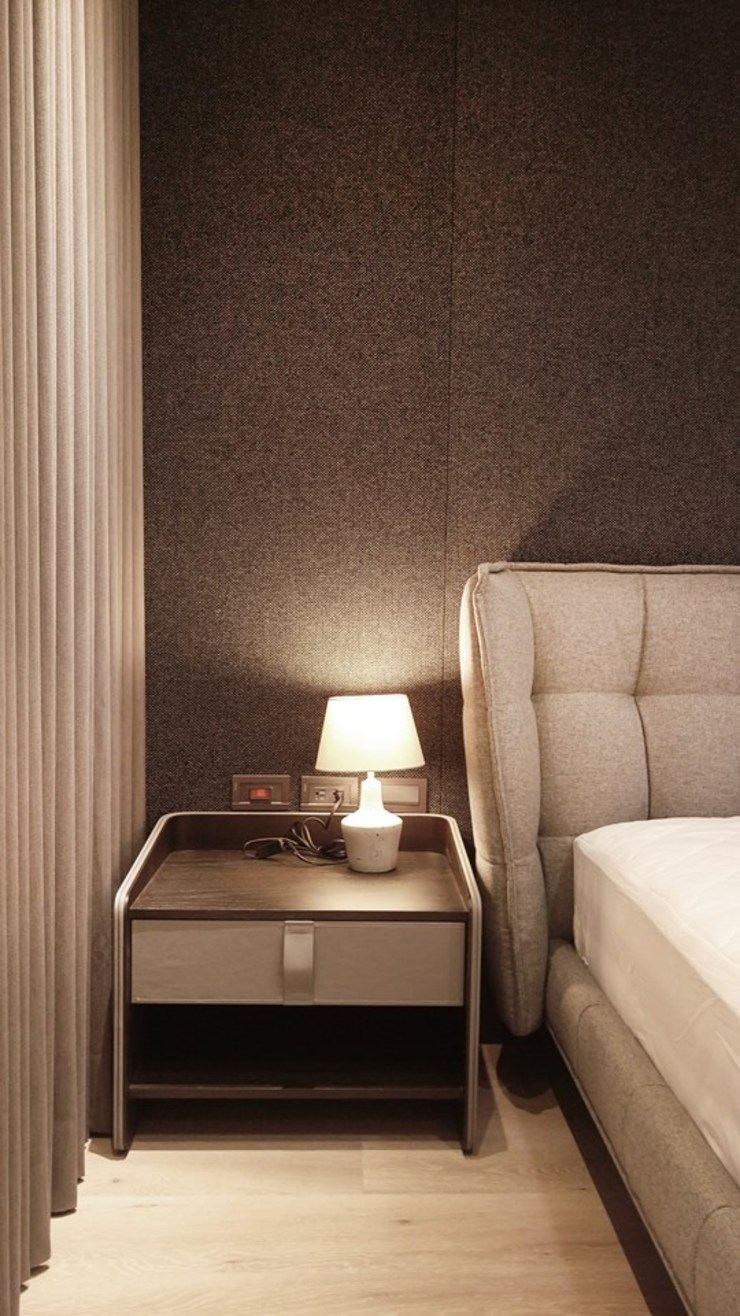 主臥室 根據 見和空間設計 現代風 水泥