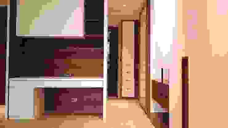 更衣室 根據 見和空間設計 現代風 合板