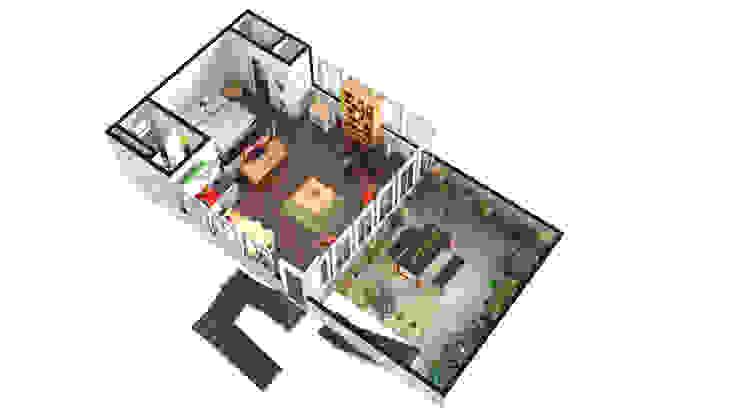 3D FLOOR PLAN WITH HDRI MAP by Rayvat Rendering Studio