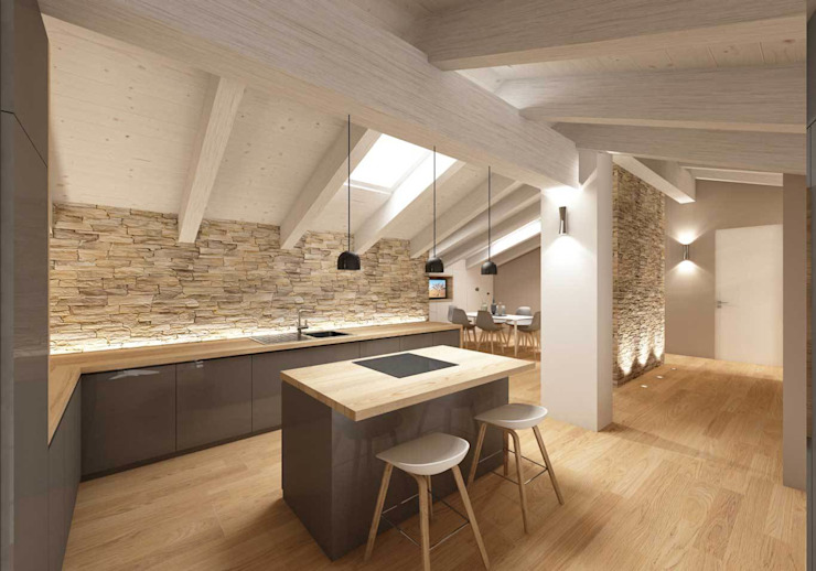 dalmasso gonzalez architetti Cocinas de estilo moderno