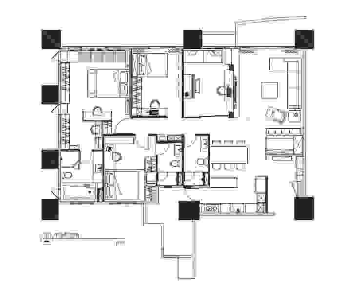 PLAN: 現代  by 見和空間設計, 現代風