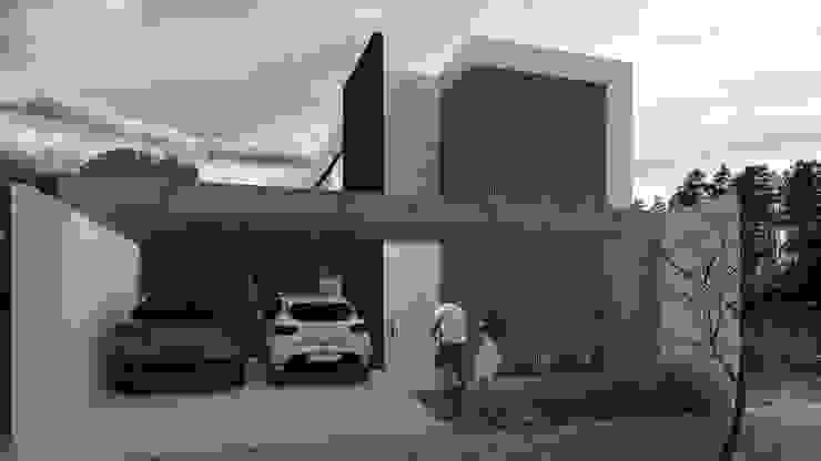 Casas pequeñas de estilo  por Bordin+Braz Arquitetura, Moderno Madera Acabado en madera