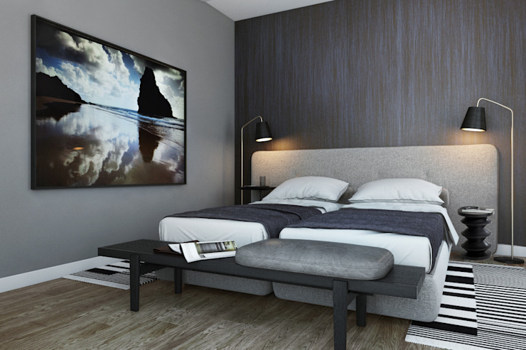 Modern style bedroom by DZINE & CO, Arquitectura e Design de Interiores Modern