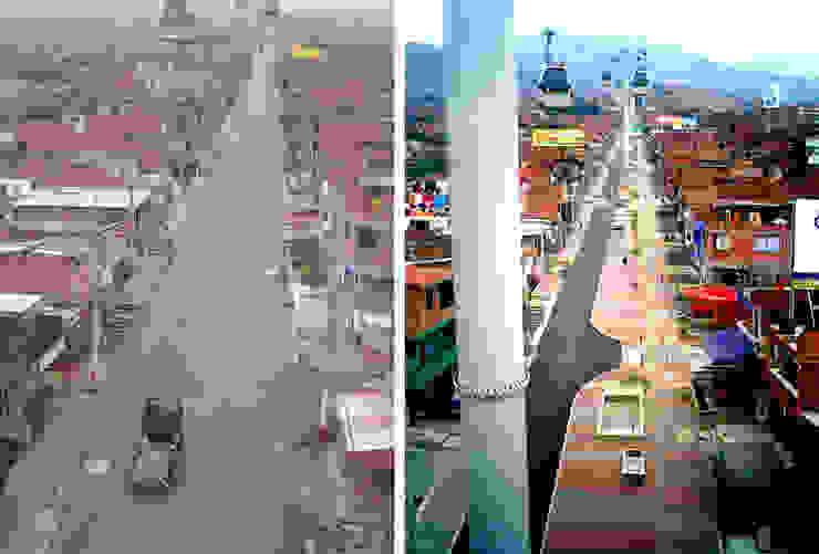 Intervención Urbano Integral Comuna Nororiental Medellin de ARQUITECTOS URBANISTAS A+U Moderno