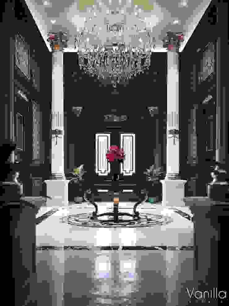 Luxurious Interior New Cairo Vanilla Studio Classic style corridor, hallway and stairs