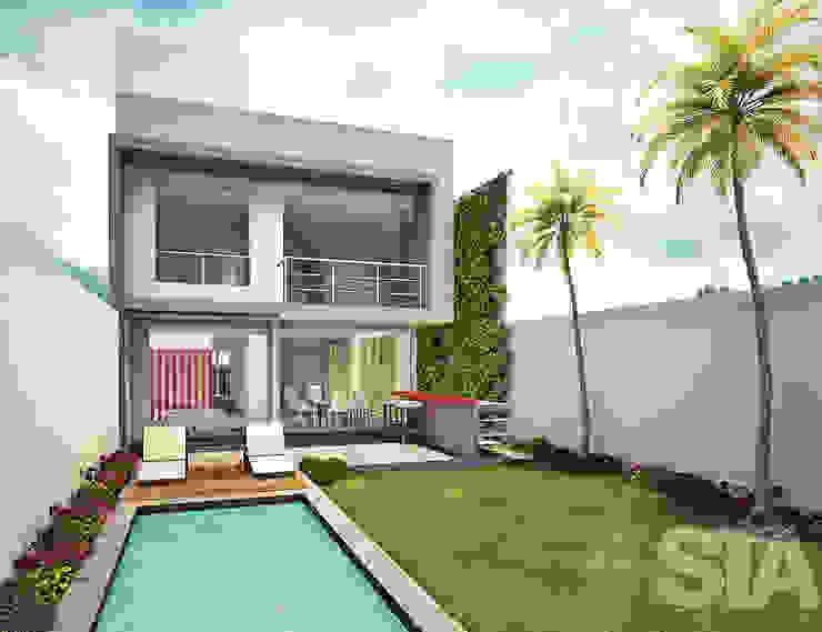 Jardines de estilo  de Soluciones Técnicas y de Arquitectura , Moderno