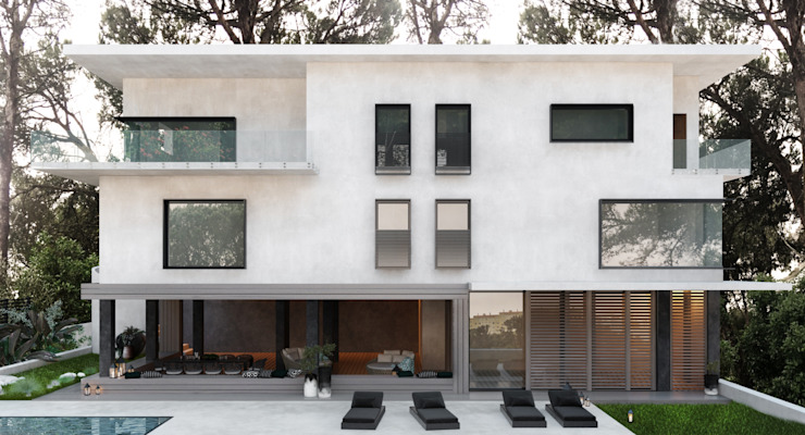Modern houses by DZINE & CO, Arquitectura e Design de Interiores Modern