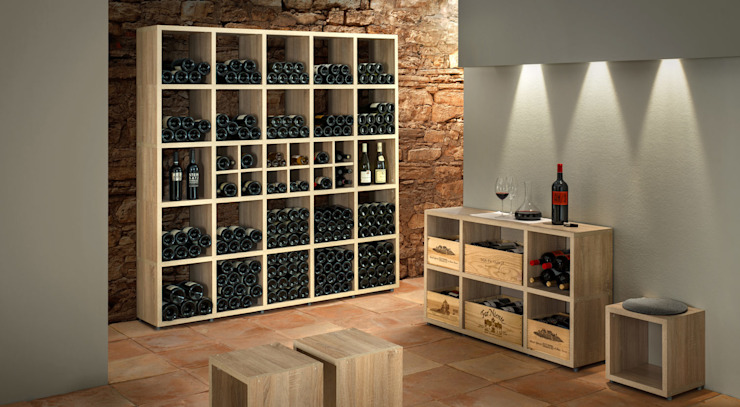 BOON—Cube Storage Units - Wine Racks Rustic style wine cellar by Regalraum UK Rustic