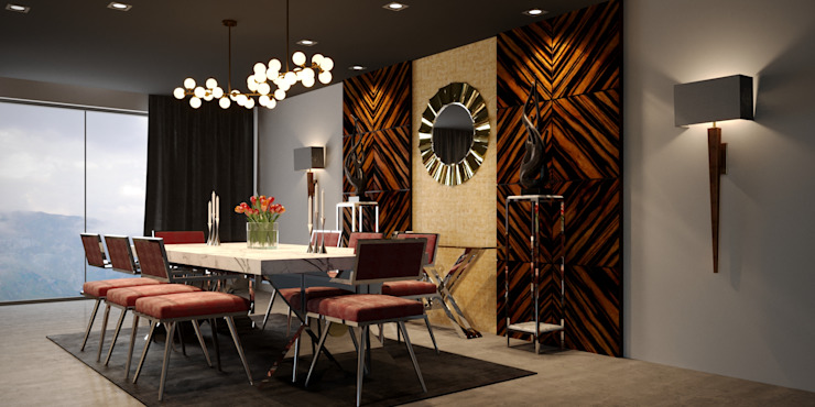Dining room by MFInteriors,