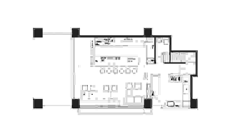 Cafe 1F PLAN: 產業  by 見和空間設計, 工業風