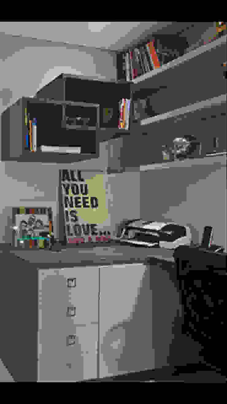 Apartamento Brooklin Escritórios modernos por Nuovo Design de Interiores Moderno