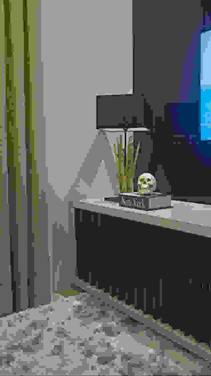 Apartamento Brooklin Salas de estar modernas por Nuovo Design de Interiores Moderno