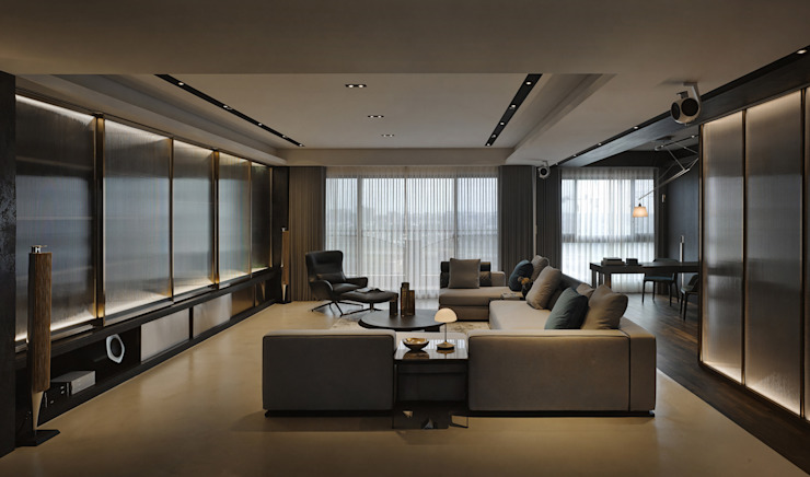 Residence C 现代客厅設計點子、靈感 & 圖片 根據 相即設計室內裝修有限公司 現代風
