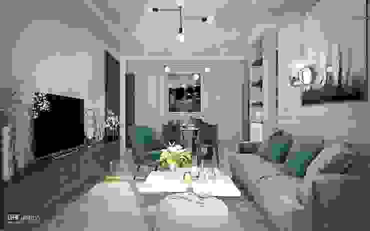 MASTERI THẢO ĐIỀN, D2 Phòng khách phong cách kinh điển bởi LEAF Design Kinh điển