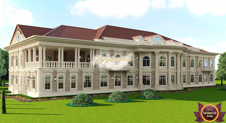 ​Architectural project in the classical style by Katrina Antonovich Classic style houses by Luxury Antonovich Design Classic