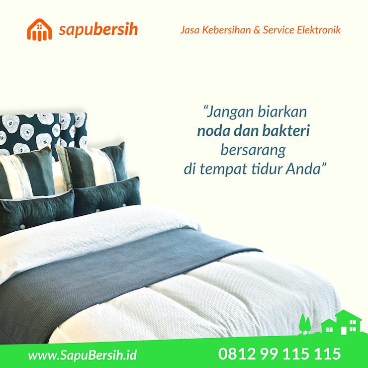 SapuBersih.id Asian style bedroom Wood Black
