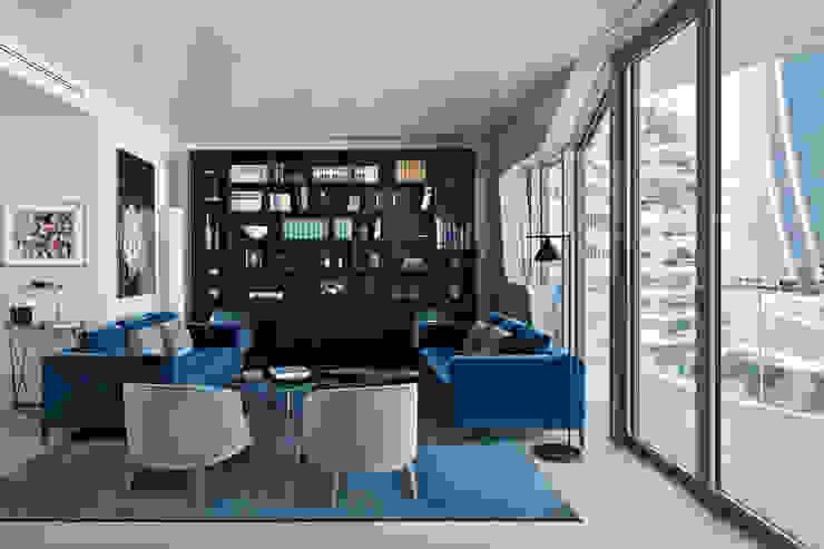 Apartment Citylife Milano Soggiorno moderno di PAOLO FRELLO & PARTNERS Moderno