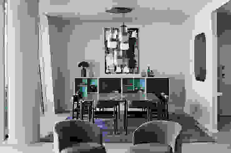 Apartment Citylife Milano Sala da pranzo moderna di PAOLO FRELLO & PARTNERS Moderno