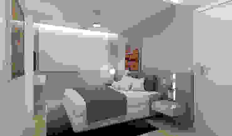 Dormitorios minimalistas de RAFE Arquitetura e Design Minimalista