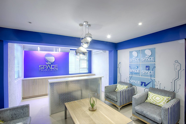 Space TV offices by BHD Interiors Modern
