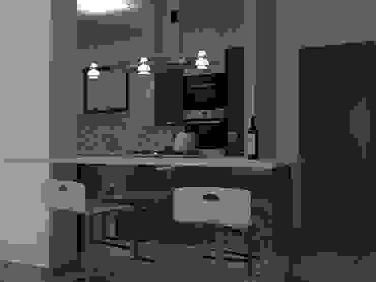 cucina Architetto Valentina Nencini Cucina attrezzata Marrone