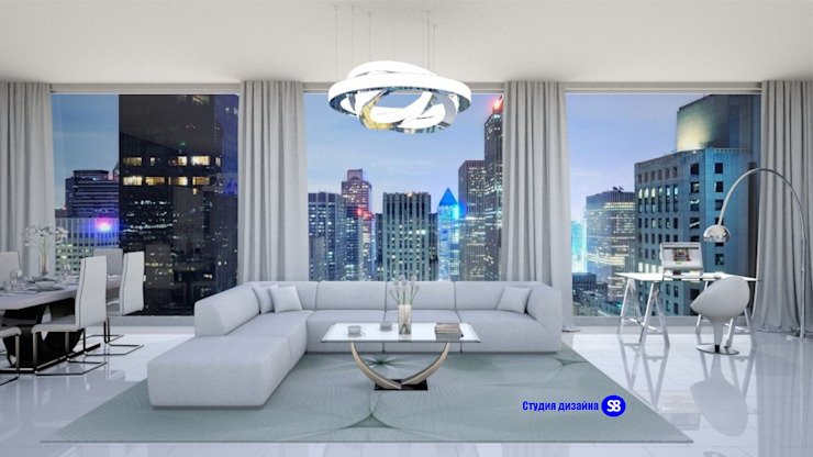 Hi-Tech living room Modern living room by 'Design studio S-8' Modern