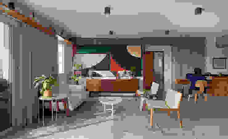Livings modernos: Ideas, imágenes y decoración de ODVO Arquitetura e Urbanismo Moderno Hormigón