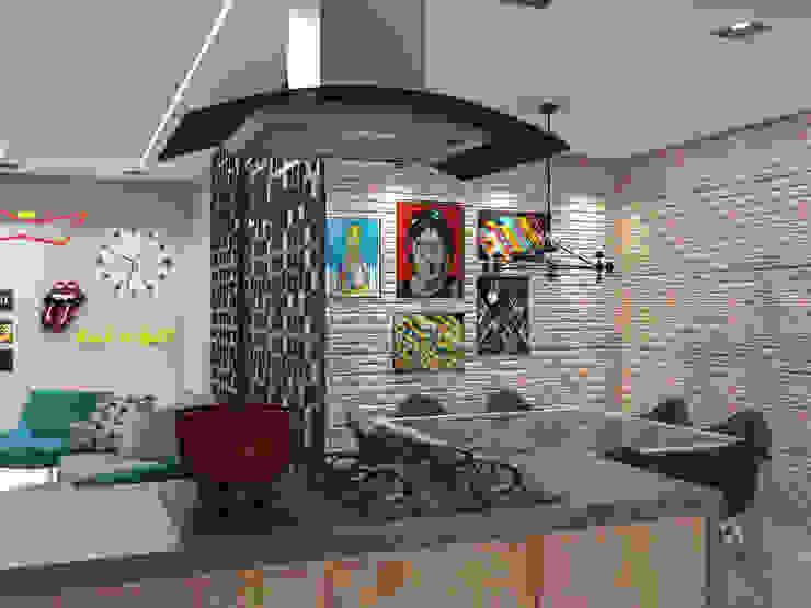 Modern style kitchen by Lorena Porto - Arquitetura e Interiores Modern