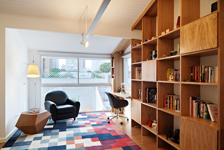 Oficinas de estilo moderno de ODVO Arquitetura e Urbanismo Moderno