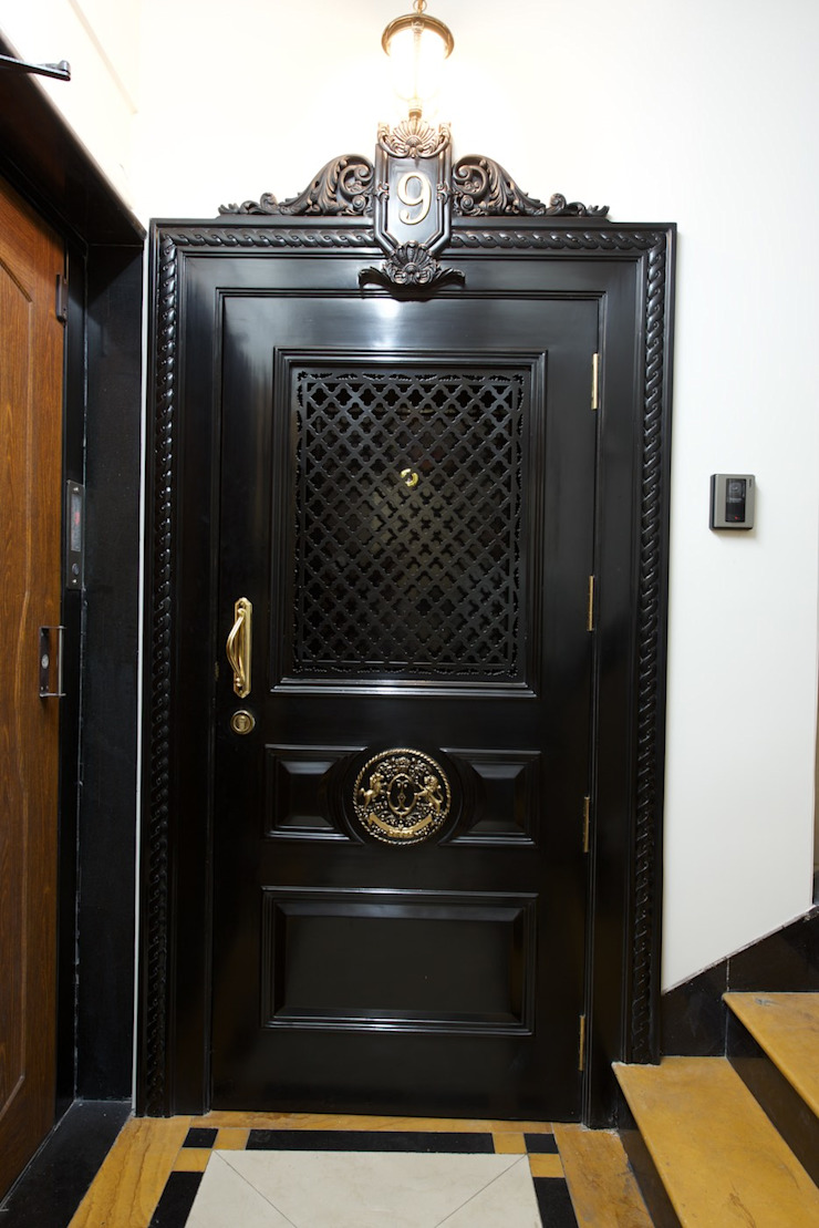 Premium home interior designs Asian style doors by Bric Design Group Asian