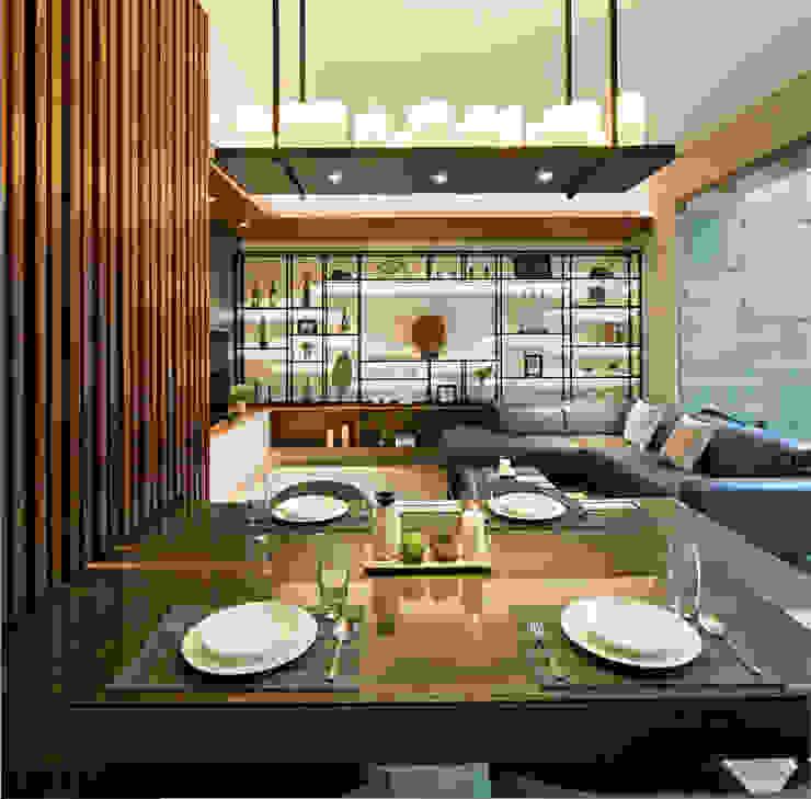 Living Room & Dining Room Ruang Makan Modern Oleh INERRE Interior Modern