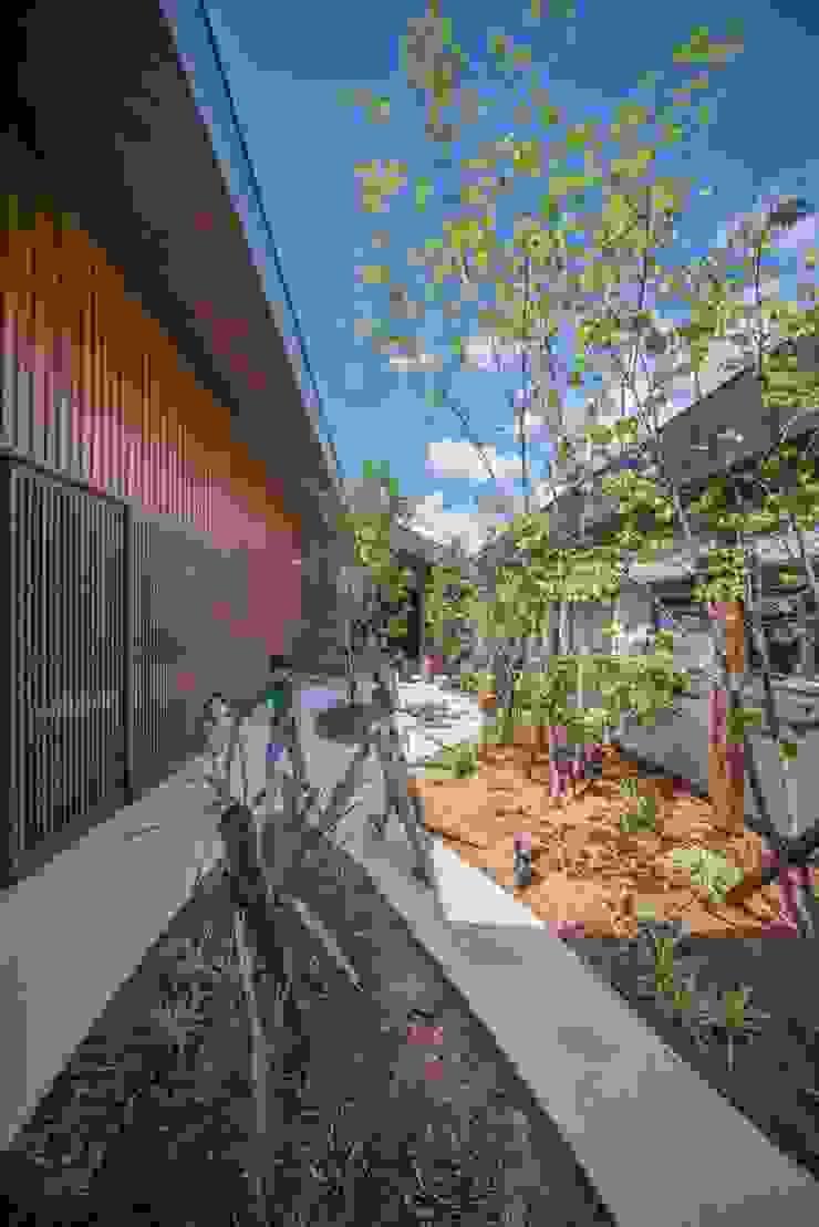 庭 武藤圭太郎建築設計事務所 モダンな庭 木 ブラウン