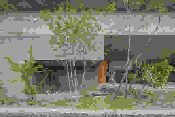 外観 玄関 駐車スペース モダンな 家 の 武藤圭太郎建築設計事務所 モダン コンクリート