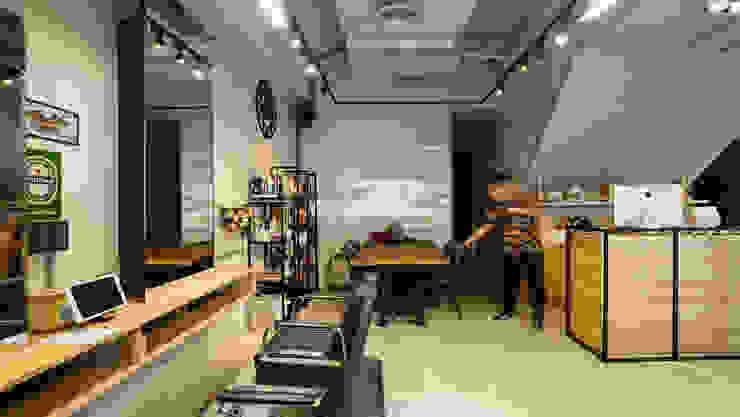 餐飲區域 根據 見和空間設計 工業風 強化水泥