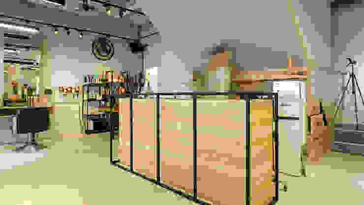 吧台 根據 見和空間設計 工業風 塑木複合材料