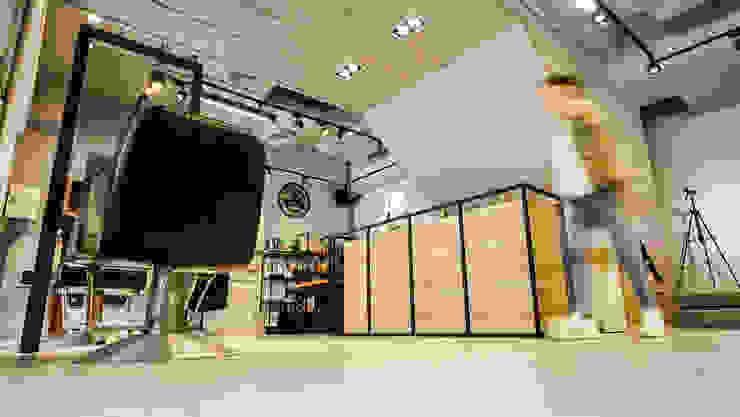 仰景 根據 見和空間設計 工業風 木頭 Wood effect