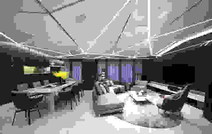 Modern living room by 行一建築 _ Yuan Architects Modern