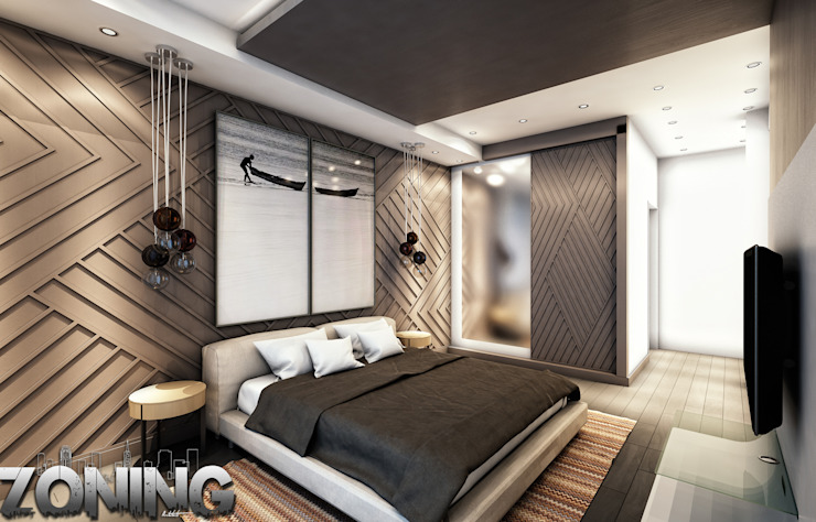 Master Bedroom Modern Bedroom by Zoning Architects Modern Wood Wood effect
