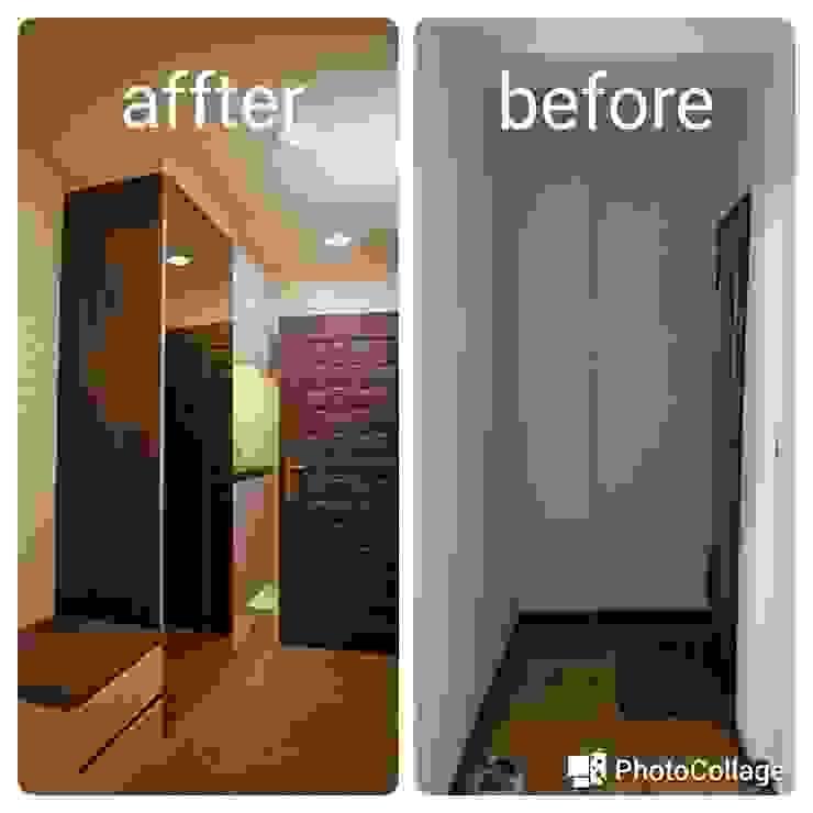台北 老屋翻修 現代風玄關、走廊與階梯 根據 耘州室內裝修有限公司 現代風