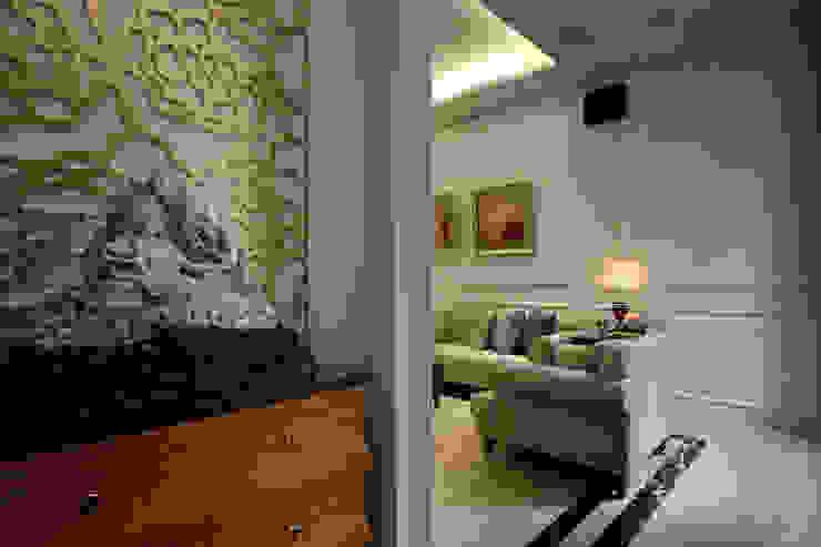 日興御園_朱公館 現代風玄關、走廊與階梯 根據 澤序空間設計有限公司 現代風